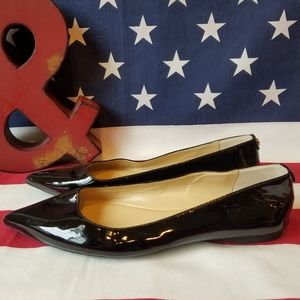Michael Kors Black Patent Leather Pointed Toe Flat